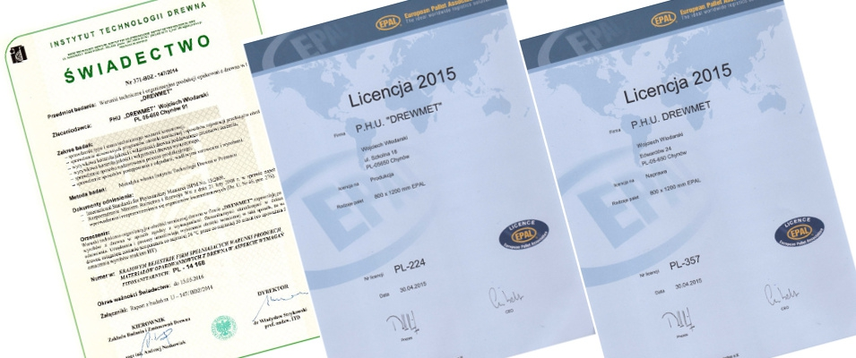 Nasze certyfikaty i świadectwa